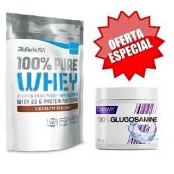 100% Pure Whey 1000g + OFERTA Glucosamine 210g