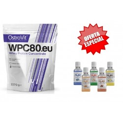 WPC80 Concentrate Natural 2720g OFERTA Flavdrops 50ml