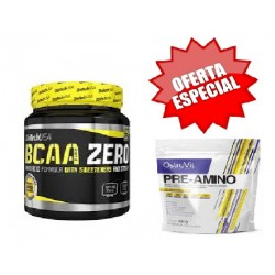BCAA Zero 360g + OFERTA Pre-Amino 400g