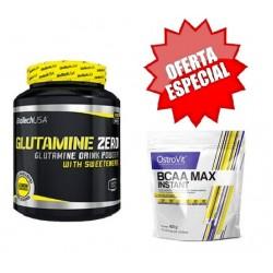 Glutamine Zero 600g + OFERTA BCAA Max Instant 400g